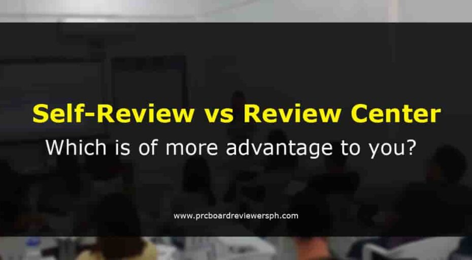 Self-Review vs Review Center