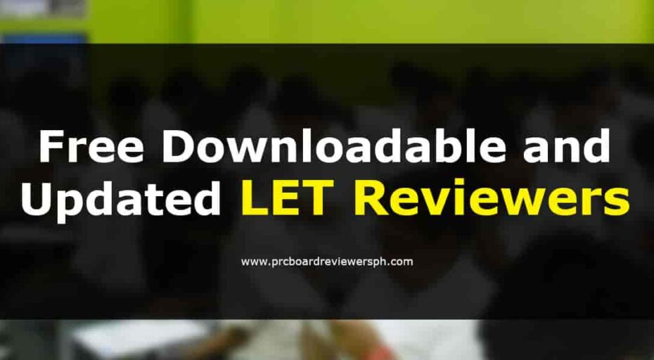 LET Reviewers